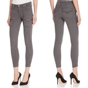 Joie Park Gray Skinny Zip Pocket Ankle Jeans